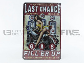 PLAQUE METAL LAST CHANCE GAS FILL ER UIP
