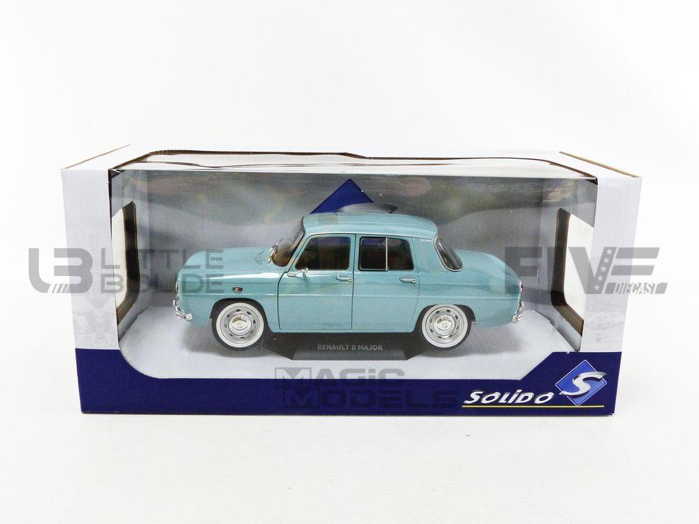 1//18 solido Renault 8 Major Bleu Clair 1967 neuf boite d/'origine jamais ouverte
