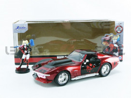 CHEVROLET CORVETTE STINGRAY + HARLEY QUINN FIGURE - 1969