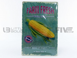PLAQUE METAL FARM FRESH MAIS