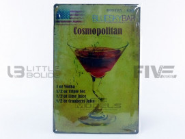 PLAQUE METAL DRINK COSMOPOLITAN COCKTAILS