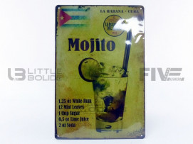 PLAQUE METAL DRINK MOJITO