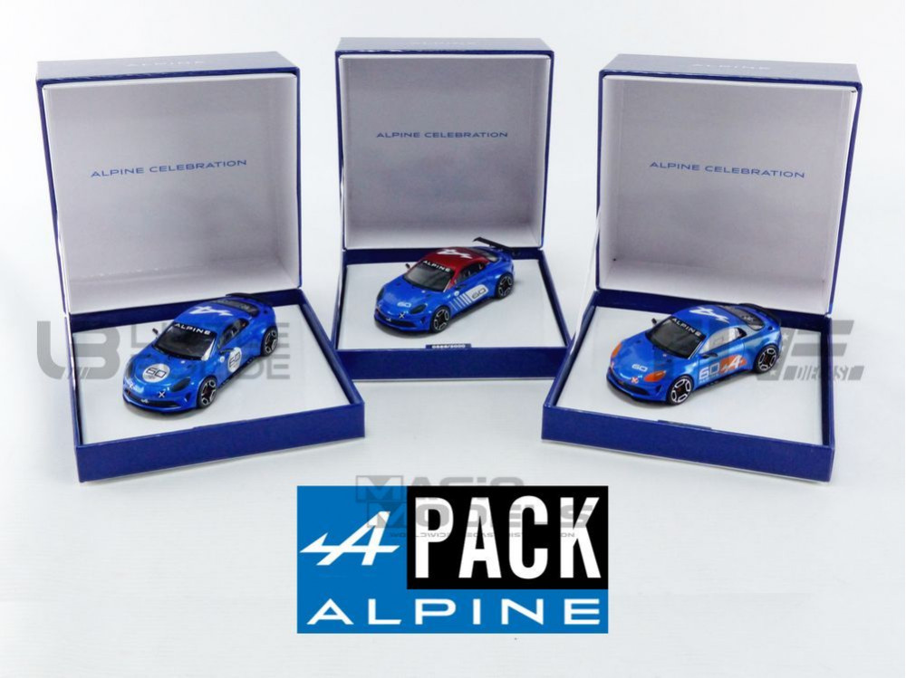 ALPINE PACK 3X A110 CELEBRATION - 2016