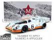 PORSCHE 917 K GULF - 1000 KM BRANDS HATCH 1971