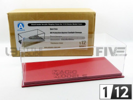 DISPLAY CASE SHOW-CASE 1/12 - MULHOUSE RED LEATHER