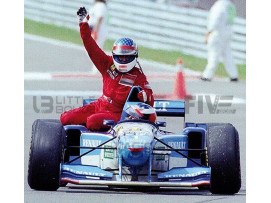 BENETTON RENAULT B195 - GP CANADA 1995 WITH FIGURINE ALESI