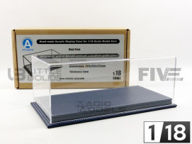 DISPLAY CASE SHOW-CASE 1/18 - BLUE LEATHER