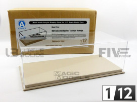 DISPLAY CASE SHOW-CASE 1/12 - MULHOUSE BEIGE LEATHER