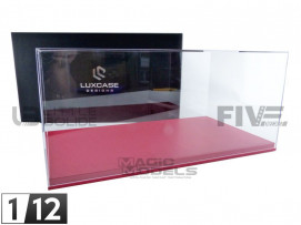 DISPLAY CASE SHOW-CASE 1/12TH - RED LEATHER
