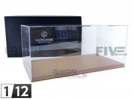 DISPLAY CASE SHOW-CASE 1/12TH - BROWN LEATHER