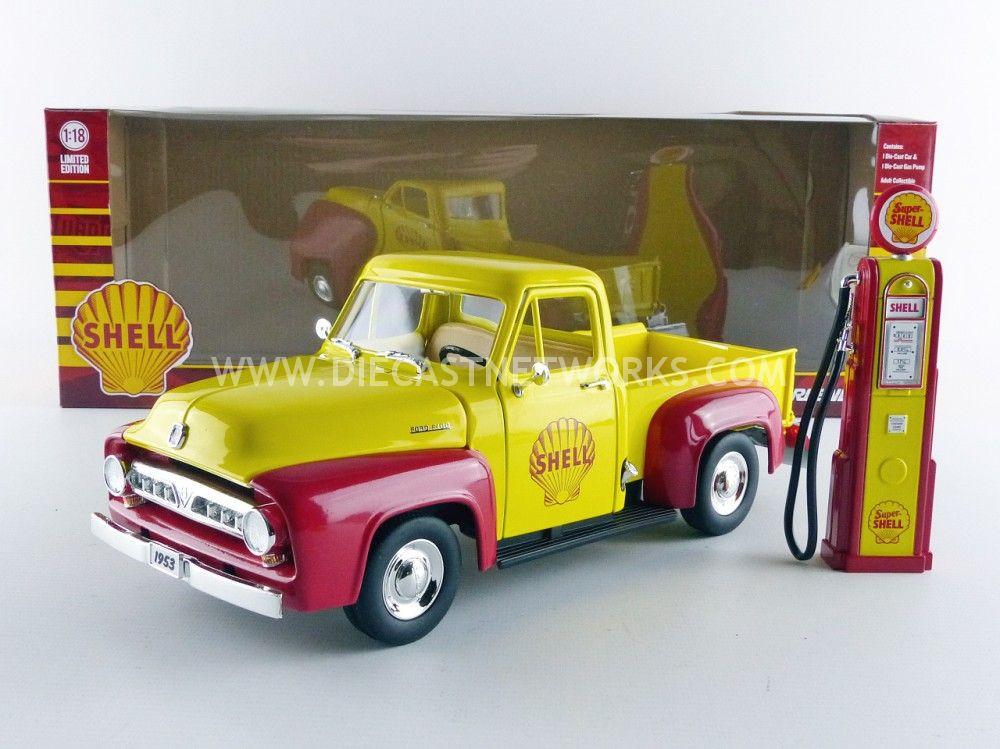 ford f100 pick up 1953 shell avec pompe a essence little. Black Bedroom Furniture Sets. Home Design Ideas