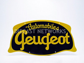 PLAQUE METAL AUTOMOBILES PEUGEOT
