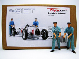 FIGURINES SET DE 2 MECANICIENS AUTO UNION POUSSEUR