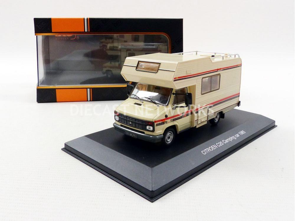 1:43 Ixo Citroen C25 Camping Car 1985 creme