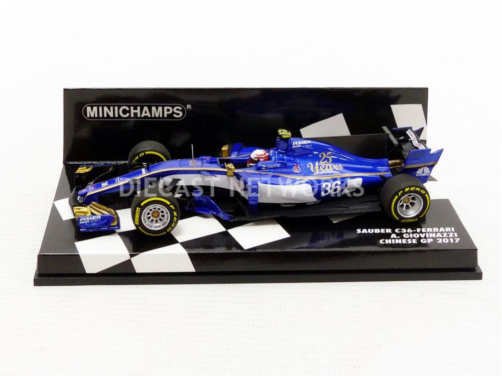 minichamps 1 43 sauber ferrari c36 chine gp 2017 417170036 ebay. Black Bedroom Furniture Sets. Home Design Ideas