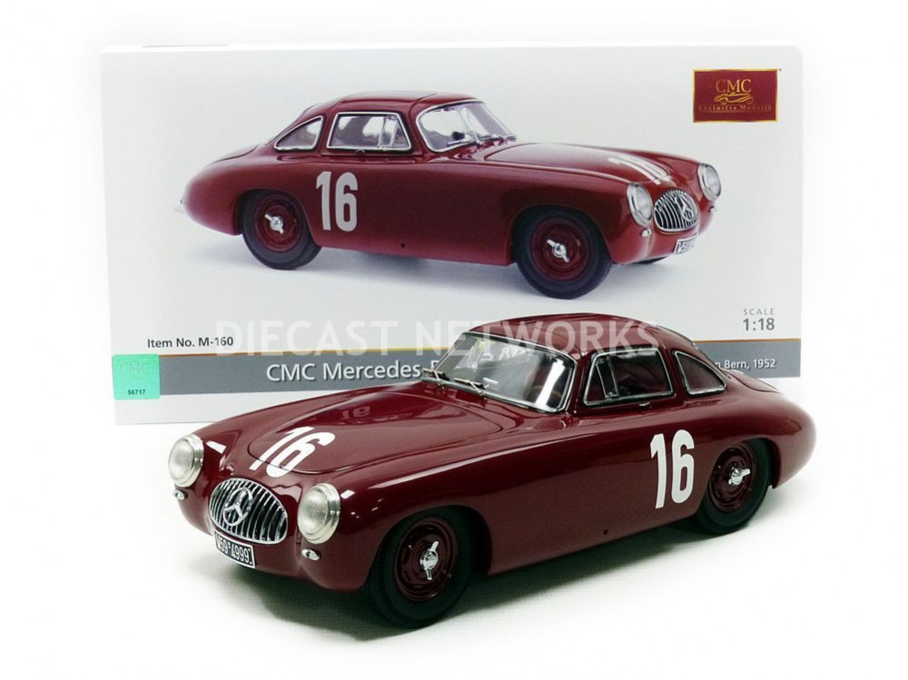 cmc 1 18 mercedes benz 300 sl grand prix de bern 1952 m 160 ebay. Black Bedroom Furniture Sets. Home Design Ideas