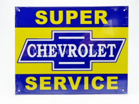 PLAQUE METAL CHEVROLET SUPER SERVICE