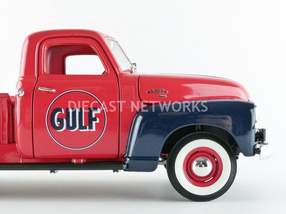 gmc 150 pick up gulf 1950 avec pompe a essence little bolide. Black Bedroom Furniture Sets. Home Design Ideas