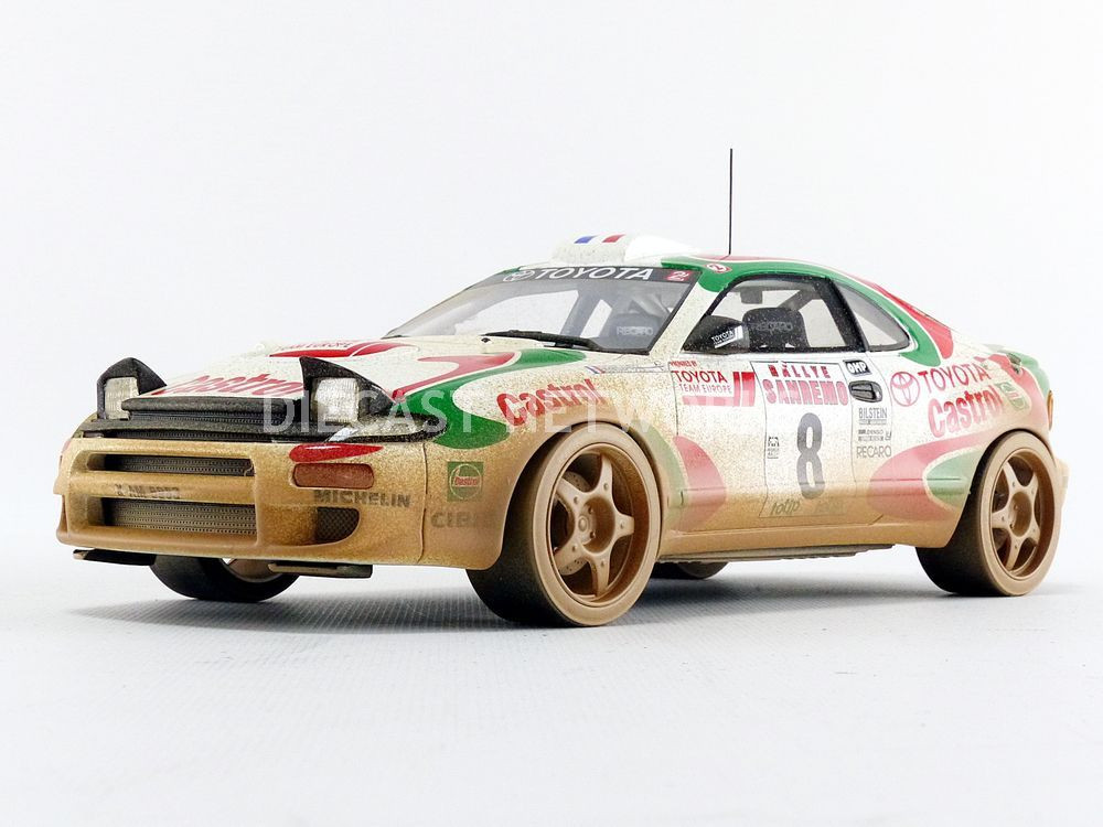 TOYOTA CELICA GT4 TOP MARQUES COLLECTIBLES WINNER RALLY SAN REMO 1994 1//18