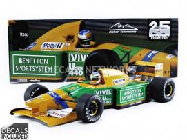 BENETTON FORD B192 - 3 RD PLACE GP ITALIE 1992