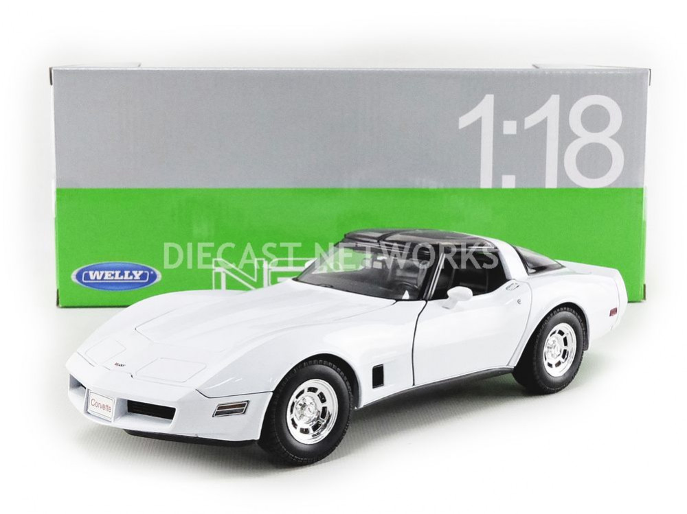 WELLY - 1 18 - CHEVROLET CORVETTE COUPE - 1982 - 12546W