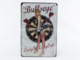 PLAQUE METAL BULLS EYE - EASY IN EASY OUT