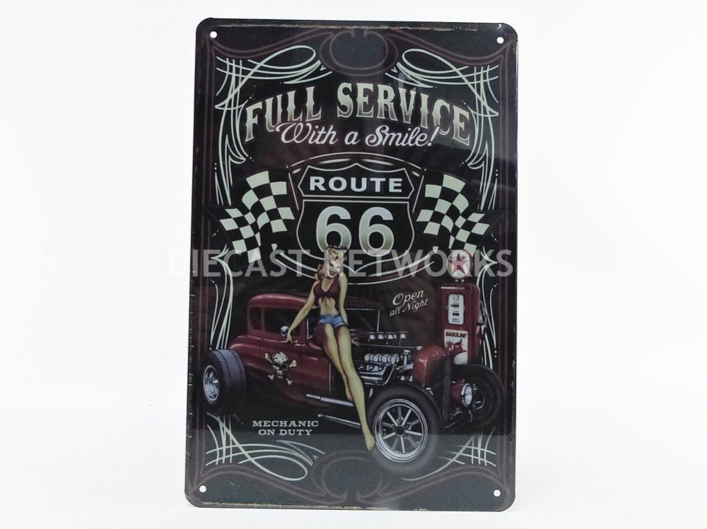 Plaque Metal Full Service With A Smile